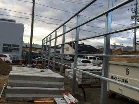 バックヤードフェンスの施工