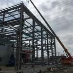 春日井市某工場鉄骨増設工事始まりました