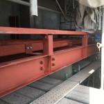 岡崎市にて某マンションの車ヨセ鉄骨施工致しました