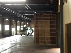 工場内事務室解体工事行いました