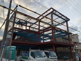 愛知県昭和区にて鉄骨工事始まりました。