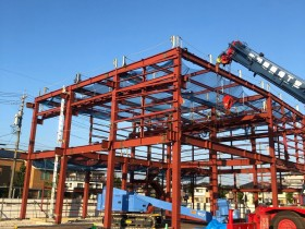 刈谷市にて鉄骨工事始まりました。