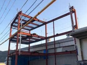 岐阜県関市にて鉄骨工事始まりました。