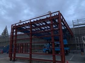 愛知県岡崎市にて鉄骨工事始まりました。