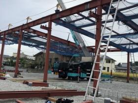 愛知県半田市にて鉄骨工事始まりました。