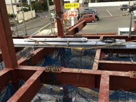 愛知県東海市 某眼科様 鉄骨工事始まりました。