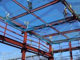 愛知県小牧市にて鉄骨工事始まりました。