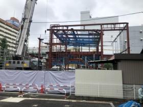 愛知県名古屋市西区にて鉄骨工事始まりました。