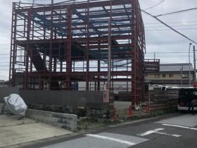 愛知県一宮市で鉄骨工事始まりました。