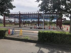 岐阜県関市で鉄骨工事始まりました。