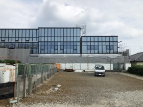 愛知県大府市 メッキ鉄骨工事 完成間際。