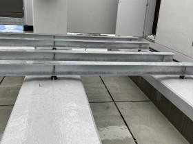 設備架台 ソーラーパネル架台 鉄骨工事を行いました