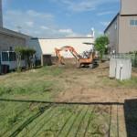 関市 庭造成工事始まりました